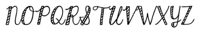KG Hard Candy Striped Font UPPERCASE