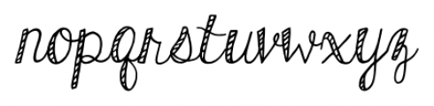 KG Hard Candy Striped Font LOWERCASE