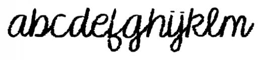 KG Makes You Stronger Regular Font LOWERCASE
