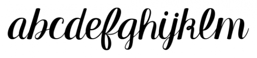 KG Manhattan Script Regular Font LOWERCASE