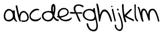 KG Mercy in the Morning Regular Font LOWERCASE