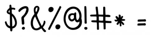 KG Sweet N Sassy Regular Font OTHER CHARS