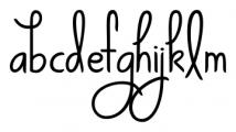 KG Ways to Say Goodbye Regular Font LOWERCASE