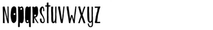 KG Beautiful Ending Font LOWERCASE