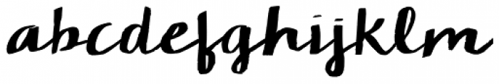KG Camden Market Script Font LOWERCASE