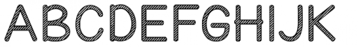 KG Candy Cane Stripe Font UPPERCASE