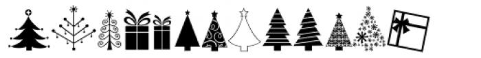 KG Christmas Trees Font UPPERCASE