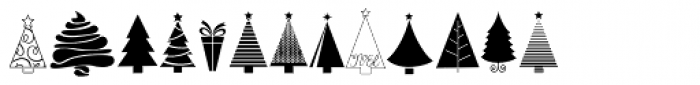 KG Christmas Trees Font LOWERCASE