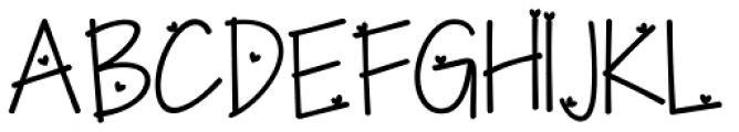 KG I Need A Heart Font Font UPPERCASE