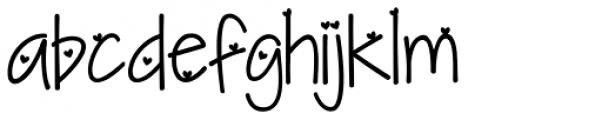 KG I Need A Heart Font Font LOWERCASE
