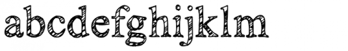 KG No Regrets Sketch Font LOWERCASE