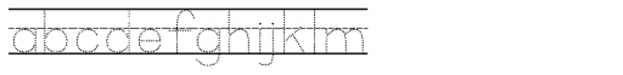 KG Primary Dots Lined Font LOWERCASE