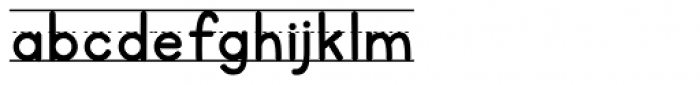 KG Primary Penmanship Lined Font LOWERCASE