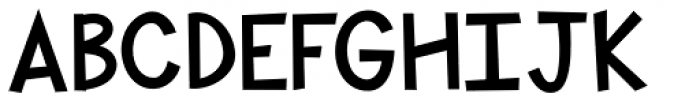 KG Shake It Off Chunky Font UPPERCASE