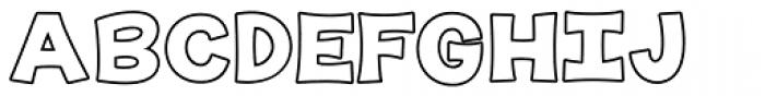 KG The Last Time Bubble Font UPPERCASE