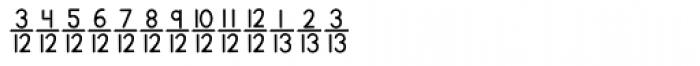 KG Traditional Fractions 2 Font UPPERCASE