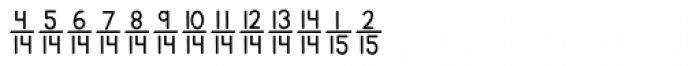 KG Traditional Fractions 2 Font LOWERCASE