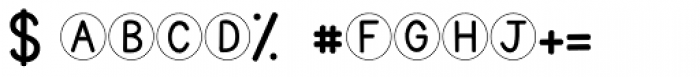 KG Traditional Fractions Font OTHER CHARS