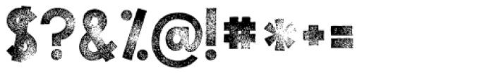 KG Tribeca Stamp Font OTHER CHARS