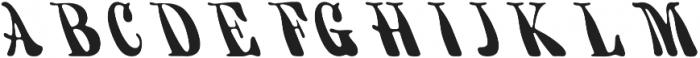 KH FILLMORE Regular otf (400) Font UPPERCASE