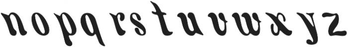 KH FILLMORE Regular otf (400) Font LOWERCASE