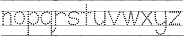 KH Karlie School Dots Lined otf (400) Font LOWERCASE