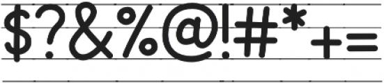 KH Karlie School Lined otf (400) Font OTHER CHARS