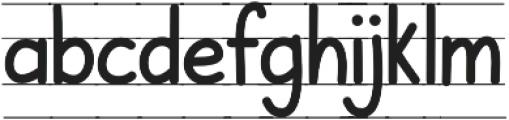 KH Karlie School Lined otf (400) Font LOWERCASE
