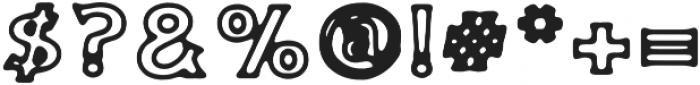KH NEW RETRO OUTLINE Regular otf (400) Font OTHER CHARS