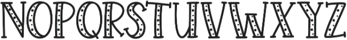 KH Prickles Spotty Complete otf (400) Font UPPERCASE