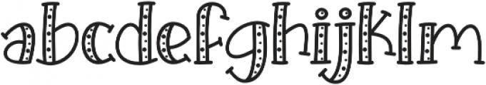 KH Prickles Spotty Complete otf (400) Font LOWERCASE