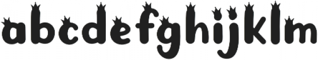 KH Prince Rollick Crowns otf (400) Font LOWERCASE