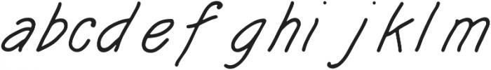 KH SOBER DRAFTSMAN Hand Lettered otf (400) Font LOWERCASE