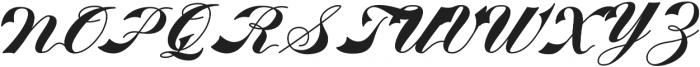 KH-WALKEN-SCRIPT Regular otf (400) Font UPPERCASE