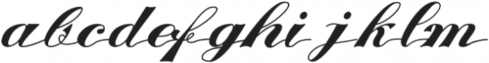 KH-WALKEN-SCRIPT Regular otf (400) Font LOWERCASE