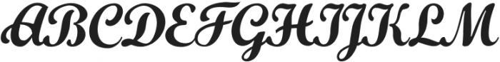Khamden Script Regular otf (400) Font UPPERCASE
