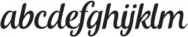Khamden Script Regular otf (400) Font LOWERCASE