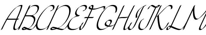 KH Erza Script Italic Font UPPERCASE