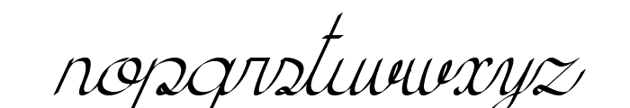 KH Erza Script Italic Font LOWERCASE