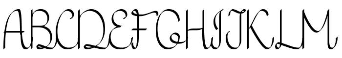 KH Erza Script Font UPPERCASE
