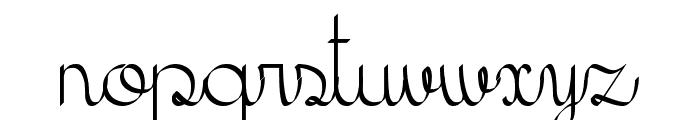 KH Erza Script Font LOWERCASE