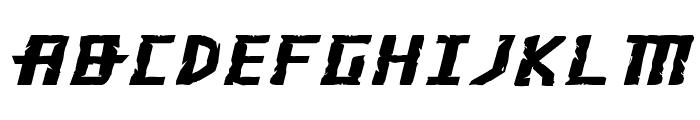 Khazad-Dum Expanded Italic Font LOWERCASE