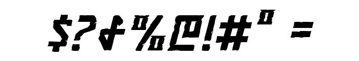 Khazad-Dum Italic Font OTHER CHARS