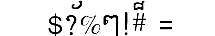 Khek Anlongvill Font OTHER CHARS