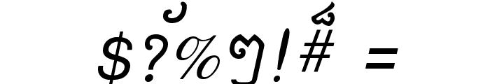 Khek Sattawat Font OTHER CHARS