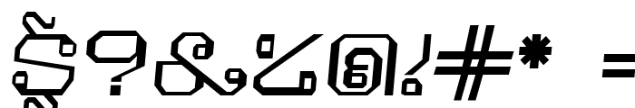 Khmer Italic Font OTHER CHARS