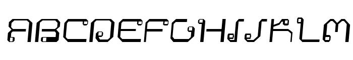 Khmer Italic Font UPPERCASE
