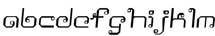 Khmer Italic Font LOWERCASE