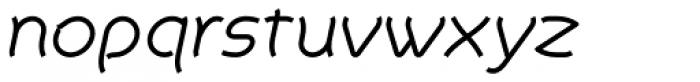 Khamai Pro Light Italic Font LOWERCASE