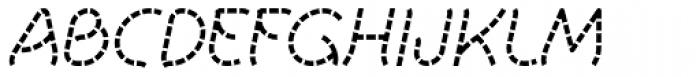 Khamai Pro Staccato Italic Font UPPERCASE